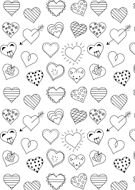 free printable heart coloring page valentinesday