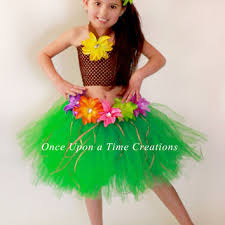luau hawaiian grass hula skirt tutu dress from onceuponatimetutus