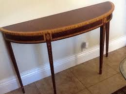 Mahogany Console Table 28035e Councill Craftsman 1 2 Round Inlaid Mahogany Console Table