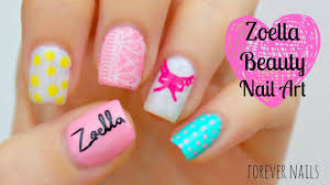 zoella beauty nail art youtube