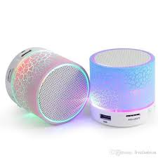 Mini A9 Handsfree Wireless Night Light Up Bluetooth Speaker Support