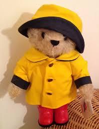 steiff paddington bear yellow rain mac u2014 paddington collective