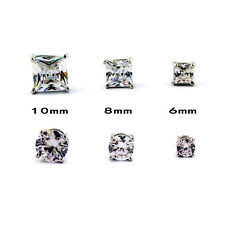 clip on earrings s cubic zirconia stud clip on fashion earrings ebay