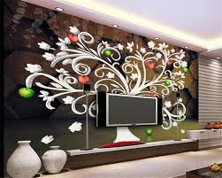 online get cheap simple green wallpaper aliexpress com alibaba beibehang 3d wallpaper stereo simple wall paper white abstract tree red green apple tv background wall