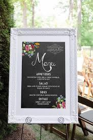 Wedding Program Board The 25 Best Wedding Menu Template Ideas On Pinterest Rustic