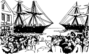 boston tea party ship clipart collection