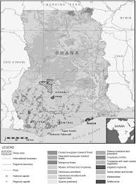Map Of Ghana Map Of Ghana Showing The Study Site In Offinso Forest Figure