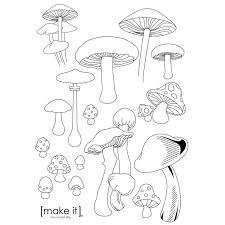 25 mushroom drawing ideas giclee print