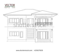drawings design house no color stock vector 334341113 shutterstock
