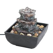 Water Fountain Home Decor by New Rock Tower Tabletop Water Fountain Indoor Pump Home Decor