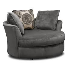 Swivel Chair Cordelle Swivel Chair Gray Value City Furniture And Mattresses