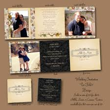 Wedding Invitation Folded Card Tri Fold Wedding Invitations Kawaiitheo Com