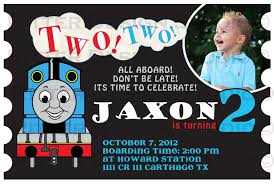 attractive thomas train birthday invitation ideas drevio