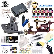 tattoo kit without machine top free ship complete tattoo kit rotary tattoo machine coils