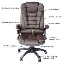 homcom high back executive ergonomic pu leather heated vibrating