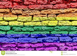 Sexuality Flags Rainbow Brick Background Stock Image Image Of Construction 58988653