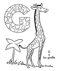 Giraffe Coloring Pages Abc Alphabet Coloring Sheets Abc Giraffe Animal Coloring Page by Giraffe Coloring Pages
