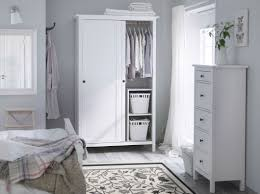 Ikea Bedroom Furniture Chest Of Drawers by A Traditional White Bedroom With Hemnes Wardrobe And Chest Of