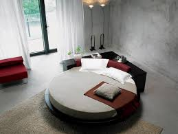 Cool Round Rugs by Bedroom Cool Bedroom With Black Round Bed And Grey Mattress Also