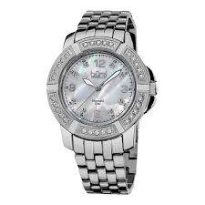 womens diamond bracelet watches images Shop burgi women 39 s diamond swiss quartz stainless steel silver jpg