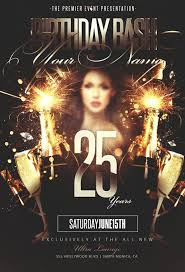 psd flyer template birthday bash party gfx downloads