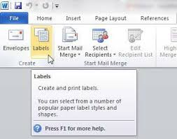 how to print address labels from word 2010 solve your tech