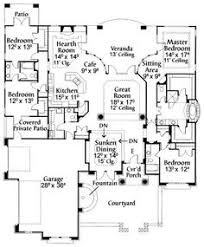 floor plans with great rooms plan 15636ge luxurious one story living open floor bedroom
