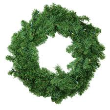 30 battery operated canadian pine artificial wreath