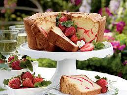 strawberry swirl cream cheese pound cake recipe myrecipes