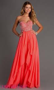 strapless coral prom dresses naf dresses