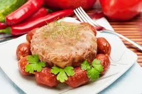 cuisine traditionnelle russe nourriture russe traditionnelle gelée de viande d aspic photo stock