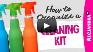 video organize a cleaning kit