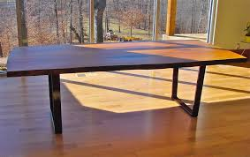 hand made ali u0027s new cherry slab dining table with cold rolled