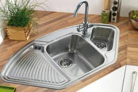 Modern Kitchens With Space Saving And Ergonomic Corner Sinks - Small sink kitchen