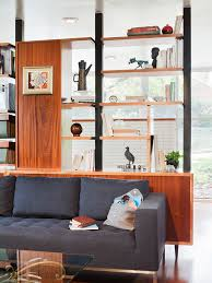 bookshelf room divider living room modern with book shelves