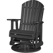 Outdoor Single Glider Chair Blazing Needles Patterned All Weather Uv Resistant Outdoor Single