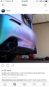 lexus isf xforce joe z exhaust with welded quad tips clublexus lexus forum