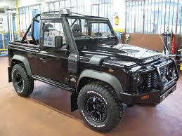 range rover truck black land rover defender 90 td4 soft cabriolet arb australian black