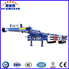 3 axles 40 feet skeleton container semi trailer fitting container