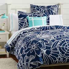 morgan fl duvet cover twin royal navy