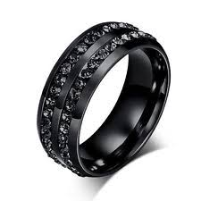 Mens Titanium Wedding Rings by Black Titanium Womens Ring Ebay