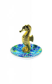 ceramic fish ring holder images Painted palm ring holder kim taylor company jpg