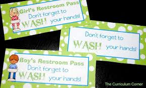 Printable Bathroom Passes Bathroom Pass Clipart Datenlabor Info