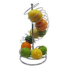 fruit basket stand tablecraft spiral fruit basket stand reviews wayfair