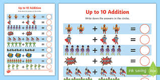 superheroes addition up to 10 activity sheet superheroes