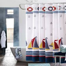 Sailboat Shower Curtains Nautical Shower Curtains For Your Theme S Bathroom