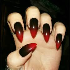 36 black pointed nail designs stylepics