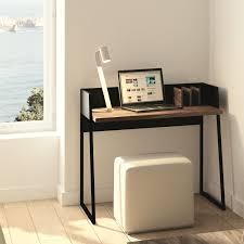Ecken Schreibtisch Schreibtisch Volga Walnuss Schwarz Bürotisch Computertisch Pc