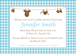 template example of baby shower invitation