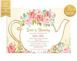 bridal tea party invitation bridal shower tea party invitation garden tea party wedding